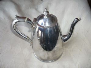 ART DECO SILVER PLATED COFFEE POT BAND HANDLE ELKINGTON & CO 15124